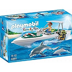Playmobil - Family Fun Diving Trip with Speedboat - 6981
