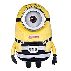 Despicable Me - 3 Jail Minion Stuart Plush Backpack