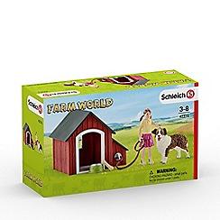 Schleich - Farm World Dog Kennel Playset - 42376