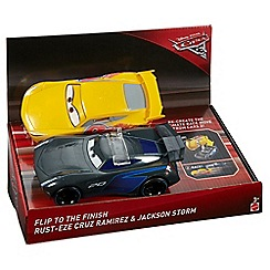 Disney Cars - 3 Flip to the Finish Rust-eze Cruz Ramirez & Jackson Storm Vehicles
