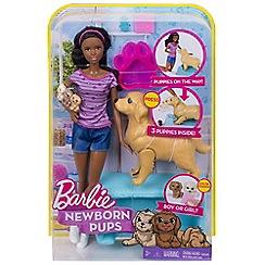 Barbie - 'Newborn Pups' doll playset