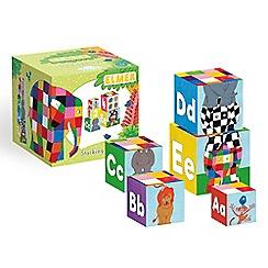 Elmer - Elmer the elephant stacking blocks