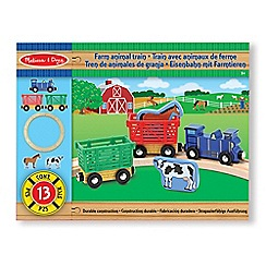 Melissa & Doug - Farm animal train set