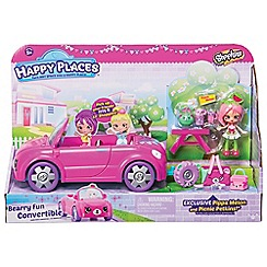 Shopkins - Happy Places Convertible Car Playset