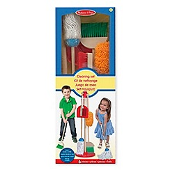Melissa & Doug - Dust, sweep, & mop - cleaning and laundry toys