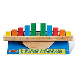 Melissa & Doug - 'Rainbow Balance' wooden rocking toy