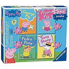 Ravensburger - 'My First Puzzle - Peppa Pig' 4 chunky jigsaw puzzles