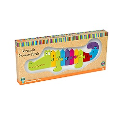 Orange Tree - Crocodile jigsaw number puzzle