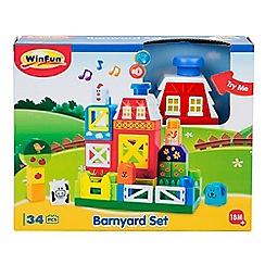 Winfun - 'Barnyard' building blocks set
