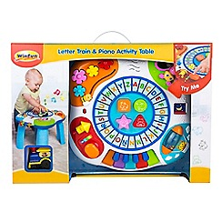 Winfun - Letter train and piano activity table