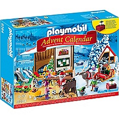 Playmobil - Advent Calendar 'Santa's Workshop with Electronic Lantern Playset - 9264