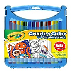 Crayola - 'Create and Colour' supertip washable markers set