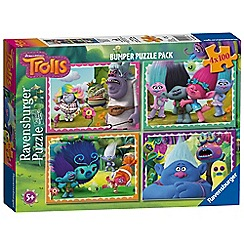 Trolls - 'Trolls' set of 4 bumper pack jigsaw puzzle