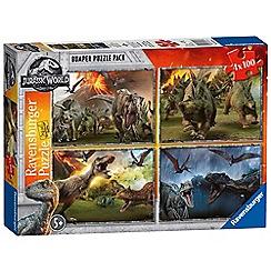 Jurassic World - 'Jurassic World' fallen kingdom set of 4 bumper pack jigsaw puzzle