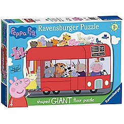 Peppa Pig - 'Peppa Pig' london bus 24 piece giant shaped floor jigsaw puzzle