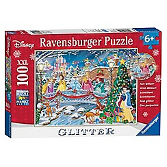 Disney Princess - 'Disney Princess' glitter Christmas XXL 100 piece jigsaw puzzle