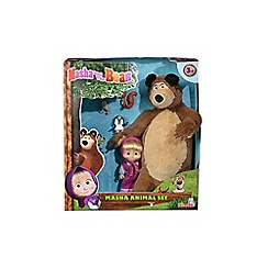 Masha and The Bear - Plush bear, doll and animals playset