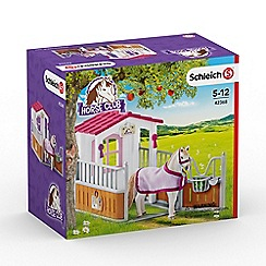 Schleich - Horse Stall with Lusitano Mare Playset - 42368