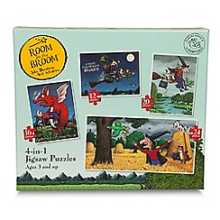Room On The Broom - 4-in-1 jigsaw puzzle