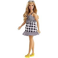 Barbie - Fashionistas curvy black and white gingham doll
