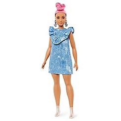 Barbie - Fashionistas curvy denim dress and pink hair doll