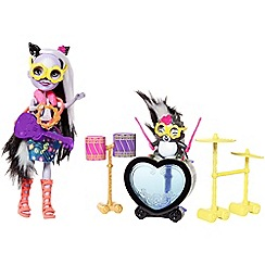 Enchantimals - Rockin' drumset playset with sage skunk doll and caper figure