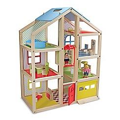 Melissa & Doug - Wooden Hi-Rise Dollhouse Playset