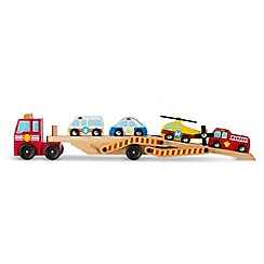 Melissa & Doug - Emergency Vehicle Carrier Playset