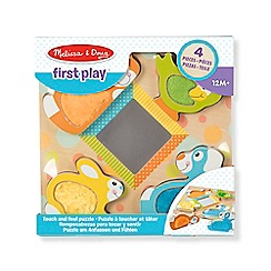 Melissa & Doug - MD FIRST PLAY WOODEN Touch and Feel Puzzle - Peek-a-boo pets