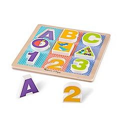 Melissa & Doug - Chunky ABC 123 Puzzle