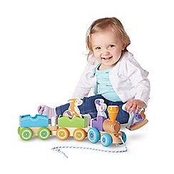 Melissa & Doug - Rocking Farm Animals Pull Train Playset
