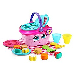 LeapFrog - Pink 'Shapes and Sharing Picnic Basket' playset