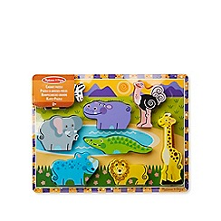 Melissa & Doug - Wooden Safari Chunky Puzzle
