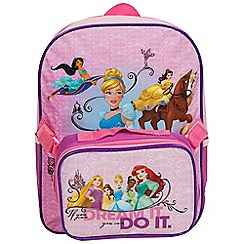 Disney Princess - Princess junior backpack with lunch bag