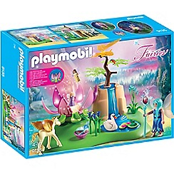 Playmobil - Mystical Fairy Glen with Glowing Flower Throne Playset - 9135