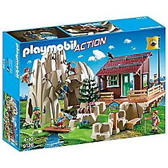 Playmobil - Action Rock Climbers with Cabin Playset - 9126
