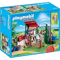 Playmobil - Country Horse Grooming Station with Functional Water Pump Set - 6929