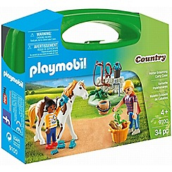 Playmobil - Horse Grooming Carry Case Playset - 9100