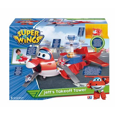 Super Wings  Jett s Takeoff Tower™  2-in-1 toy playset  e6241b589