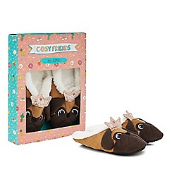 Cosy Friends - Pug slippers in a gift box
