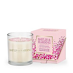 Baylis & Harding - Limited edition rose prosecco fizz fragranced candle