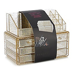 Beauty Box - Gold Glitter Cosmetics Organiser