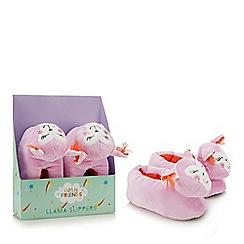 Cosy Friends - Multicoloured llama slippers