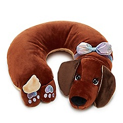 Cosy Friends - Brown sausage dog microbead neck wrap