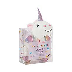 Cosy Friends - White unicorn screen wipe