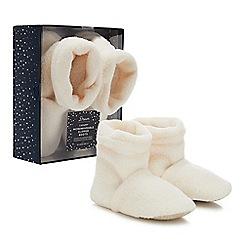Dream - Cream 'Sherpa' microwavable slipper boots