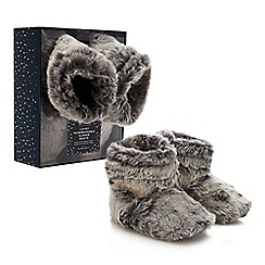 Dream - Grey microwavable slipper boots