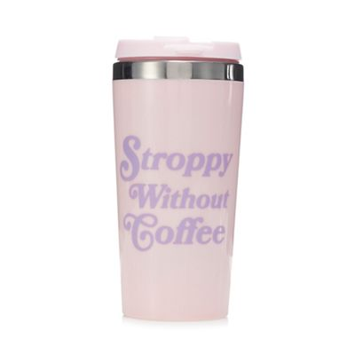 Pink Pineapple   Pink 'stroppy Without Coffee' Travel Mug by Pink Pineapple