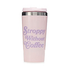 Pink Pineapple - Pink 'Stroppy Without Coffee' Travel Mug