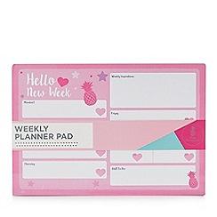 Pink Pineapple - Weekly planner pad
